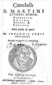 Luther's Small Catechism circa 1600's